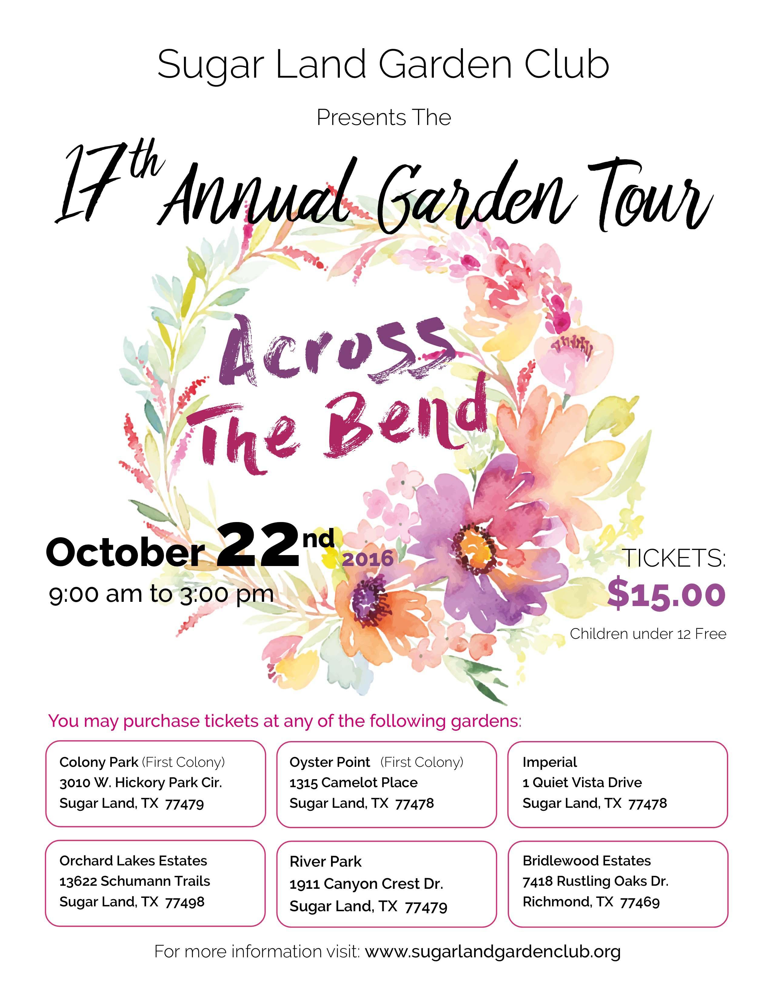 . 2016 Garden Tour   Sugar Land Garden Club